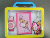 TDX5501K39 TIME DESIGN Kids Keyring, Watch with Pen & Notebook Gift Box