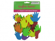 Foam craft hand and feet shapes - Case of 12