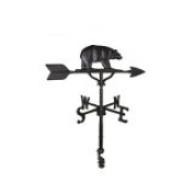Montague Metal Products WV-245-SB 200 Series 80cm . Black Bear Weathervane
