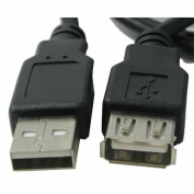 RND Accessories 1.8m Male To Female USB Extension Cable - Black