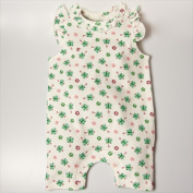 Little Ashkim BGSRKM03 Sleeveless Butterfly Romper - White with butterfly prints 0-3 months