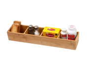 YBM Home 329 Bamboo Drawer Organiser With 3 Removable Dividers