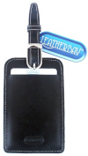 Leatherbay 13102 Leather Luggage Tag Black