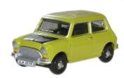 oxford classic lime green mr bean mini car 1.76 railway scale diecast model