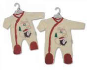 Baby Christmas Outfit All in One With Embroidery And Applique - 3/6 Months