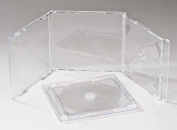 Vision Media 10 X Double Clear CD Case - Professional Grade Quality