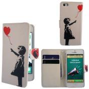iphone 5 5S Banksy Grafitti Art Ballon Girl Designer Full Case / Flip cover Defender Shockproof Holder Pouch Case Cover iPhone Wallet