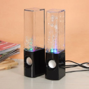 Black LED Dancing Water Show Music Fountain Multi-coloured LED Light Mini Computer Speakers For Laptop PC Phone Tablet PC
