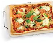 Eddingtons Rectangular Pizza Stone, with Metal Rack