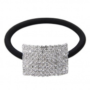 Skyllc® Silver Plated Crystal Rhinestone Girl Hair Tie Band Ponytail Holder
