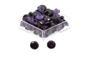 Birth Stone Jewels 3.5mm Purple Amethyst Round Brilliant Cut Cubic Zirconia Gem Stones Pack Of 2