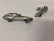 Jaguar E Type Series 1 FHC 3D cufflinks classic car pewter effect cufflinks ref101