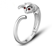 findout ladies 925 sterling silver cute cat open rings , for women girls