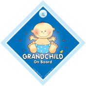 Grandchild on board sign, Grandchild on Board, Big Blue, Baby on Board Sign, baby on board, Grand Child On Board Car Sign, Grand Parents Car Sign, Grandson On Board Sign, Grandchild On Board Sign, Baby Car Signs