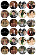 24 Downton Abbey Edible Wafer Paper Cup Cake Toppers