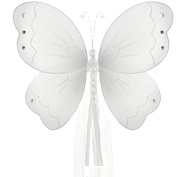 The Butterfly Grove Briana Butterfly Curtain Tieback for Baby, Plumeria White, Small/18cm x 15cm