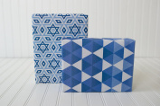 Wrappily - Eco-Friendly - Wrapping Paper - Reversible - Gift Wrap - Hanukkah Textiles