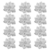 Refaxi 40pcs Crystal Rhinestone Decoration Satin Ribbon Flower Appliques Crafts
