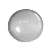 Pandahall 20pcs 12mm Half Round Flat Back Clear Glass Dome Cabochons, for Photo Pendant Craft Jewellery Making