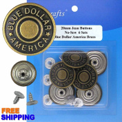Blue Dollar America Jean Buttons