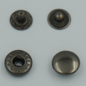 """Bluemoona 100 Sets - 10mm 3/8"""" Metal Snap Fastener Leather Rapid Rivet Button Sewing"""