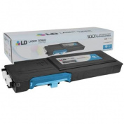 LD Compatible Dell 593BBBTCTS 488NH (TW3NN) Cyan High Yield Toner Cartridge Includes