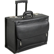 AmeriLeather Leather Wheeled Laptop Catalogue Case