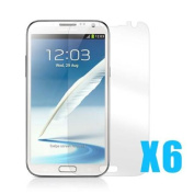 6 x NEW High Quality Glossy Screen Guard Protector for Samsung Galaxy Note 2 Note II N7100