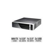 "HEC ITX200B 8K07 Mini ITX Case - 200W PSU, 1x Slim ODD, 1x 3.5"" Int Bay, 60mm Fan, Front USB 2.0 / Audio / e-SATA Ports"