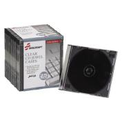 Skilcraft NSN5026513 Slim CD-DVD Cases, Plastic, 25-PK, Clear