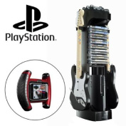 LevelUp Playstation Alloy Game Storage Tower Organiser + Grip Racing Controller