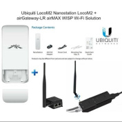 Ubiquiti LocoM2 Nanostation LocoM2 + Ubiquiti airGateway-LR airMAX WiFi Solution