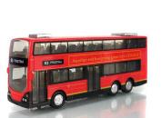 E3 PRISTINA City Bus Diecast Mini Double-decker Bus Toy for Boys 16cm