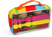 Vilac 6 x 21 cm Lacquered Skittles