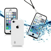 GEARONIC Newest Durable Waterproof Shockproof Dirt Snow Proof Case Cover for iPhone 5C - White