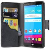 i-Blason Leather Book Wallet Case for LG G4, Black