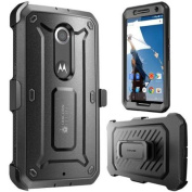 SUPCASE - Unicorn Beetle PRO Series Full-body Rugged Hybrid Protective Case with Built-in Screen Protector for Google Nexus 6 - Black Black