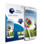 Tech Armour for Samsung for Samsung Galaxy S4 (Not S4 ACTIVE) High Defintion (HD) Clear Screen Protectors - Maximum Clarity and Touchscreen Accuracy [3-Pack] Lifetime Warranty