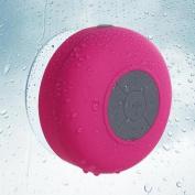 Insten Hot Pink Bluetooth 3.0 Wireless Waterproof Speaker w/ Handsfree Call Mic for Shower Car iPhone Smartphone Tablet