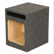 Q Power HD110 25cm Single Heavy Duty Vented Square Subwoofer Sub Enclosure Box