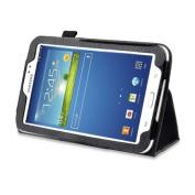 Black Double-Fold Folio Case for Samsung Galaxy Tab 3 18cm Tablet