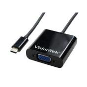 Visiontek USB/VGA Video Adaptor - Type C USB - HD-15 VGA
