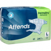 Attends DermaDry Advance Briefs, Large, 24 count