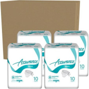 Assurance Maximum Absorbency Bariatric Briefs, 10 count,