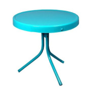 50cm Turquoise Blue Retro Metal Tulip Outdoor Side Table