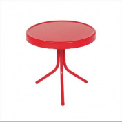 50cm Vibrant Red Retro Metal Tulip Outdoor Side Table