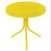 50cm Sunshine Yellow Retro Metal Tulip Outdoor Side Table