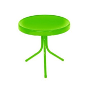 50cm Lime Green Retro Metal Tulip Outdoor Side Table