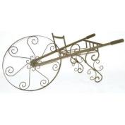Panacea Whimsical Wheelbarrow Plant Stand - Antique Willow