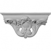 Ekena Millwork Hillsborough 17cm H x 33cm W x 9.5cm D Decorative Shelf